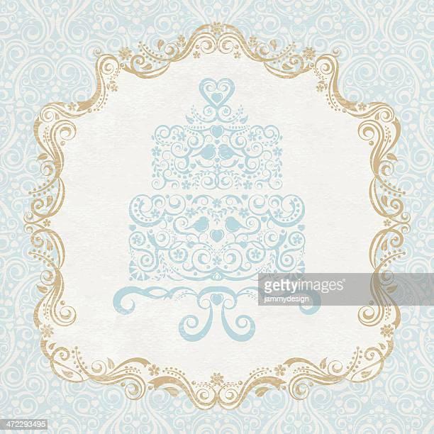 let them eat cake! - wedding cake stock illustrations