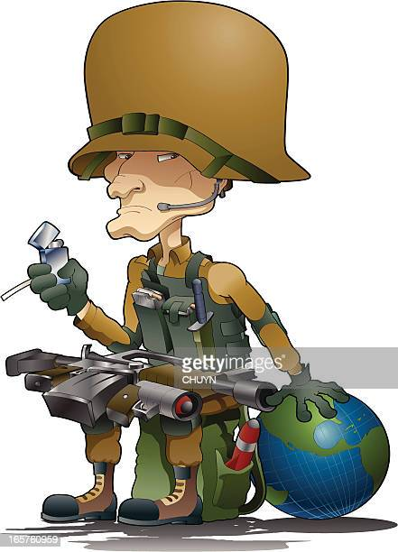 lethal soldier - special forces stock illustrations, clip art, cartoons, & icons