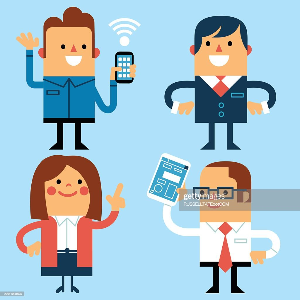 Let's Connect : stock illustration