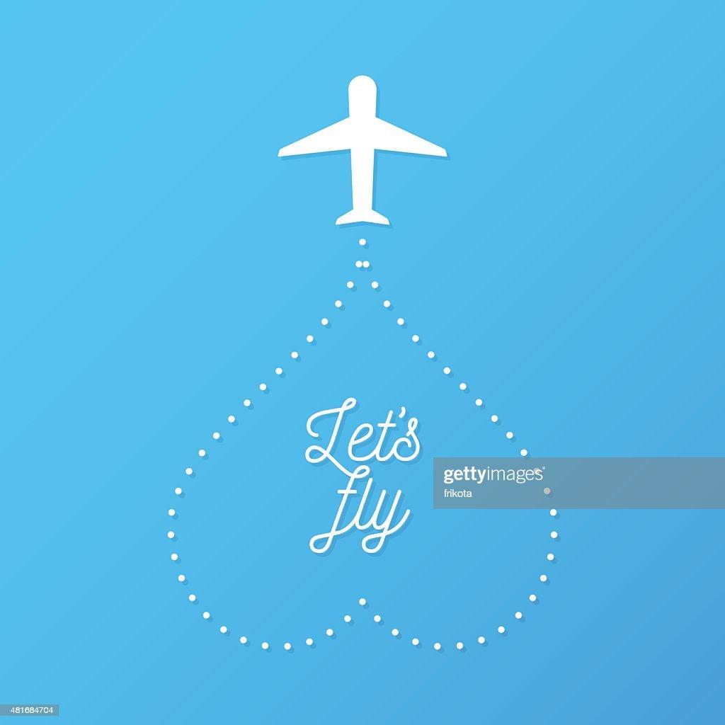 Let's fly illustration