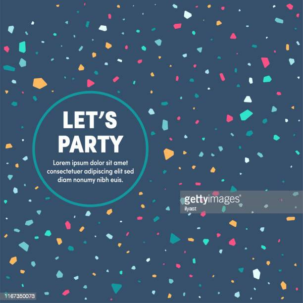 let's party multipurpose business cover design - party social event stock illustrations