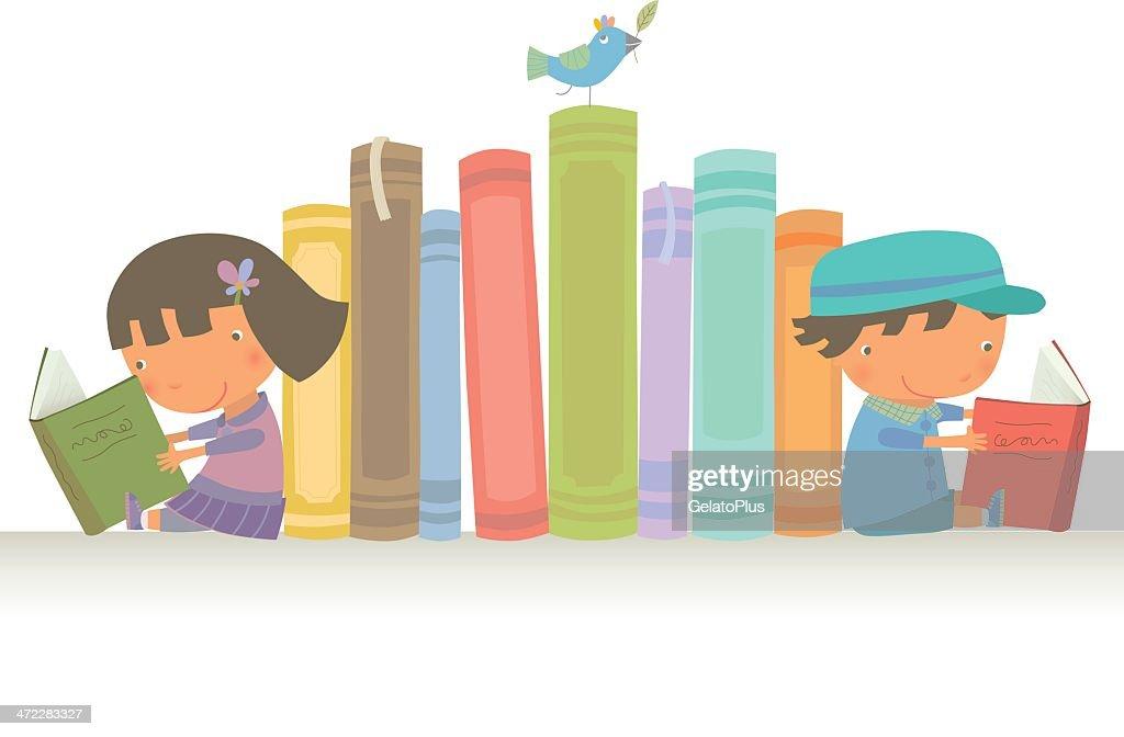 Let's read together : stock illustration