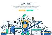Lets rock - line design website banner