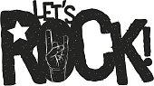 Lets Rock Typographic Design