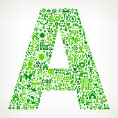 Letter A Environmental Conservation and Nature interface icon Pattern