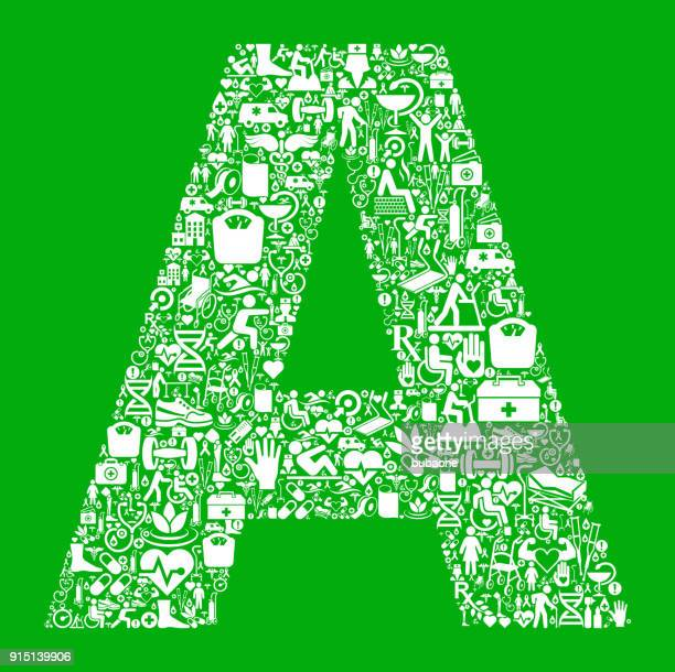 letter a garden and gardening vector icon pattern - work romance stock illustrations, clip art, cartoons, & icons