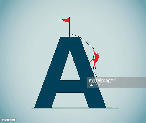 letter a - letter a stock illustrations