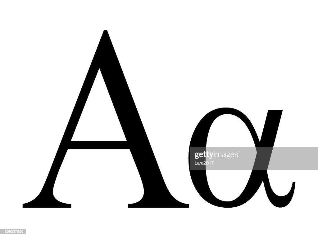 Letter Alpha