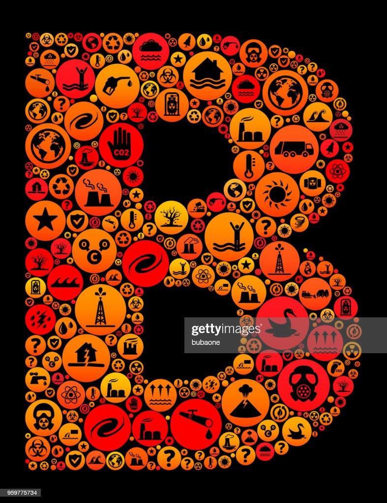 Buchstabe B Klima Muster ändern-Symbol : Stock-Illustration
