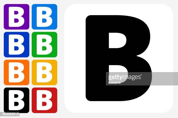 レターセット b 正方形アイコン ・ ボタン - アルファベットのb点のイラスト素材/クリップアート素材/マンガ素材/アイコン素材
