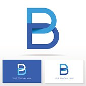 Letter B logo icon design template elements - Illustration