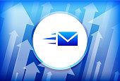 Letter Blue Up Arrows Background