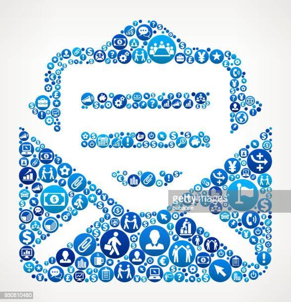 stockillustraties, clipart, cartoons en iconen met brief business and finance blauwe pictogram patroon - e mail