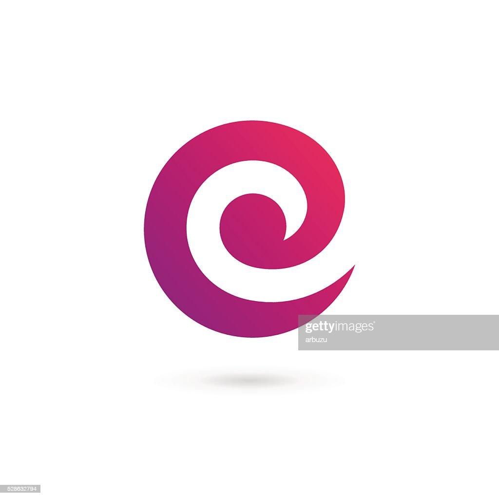 Letter C E icon design template elements