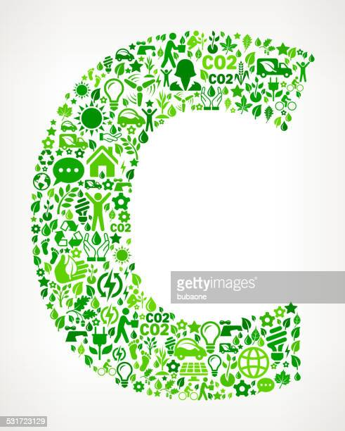 letter c environmental conservation and nature interface icon pattern - 2015 stock illustrations, clip art, cartoons, & icons