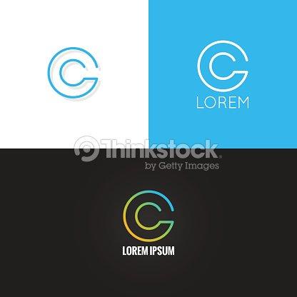 Letter C Logo Alphabet Design Icon Set Background Vector Art