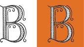 B, Letter, Circus, Alphabet, Retour du rétro, lettrine