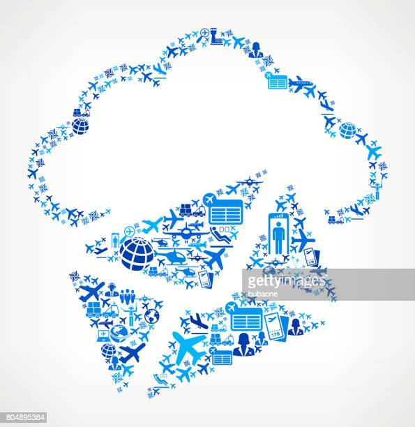 Letter Cloud Computing  Aviation and Air Planes Vector Graphic