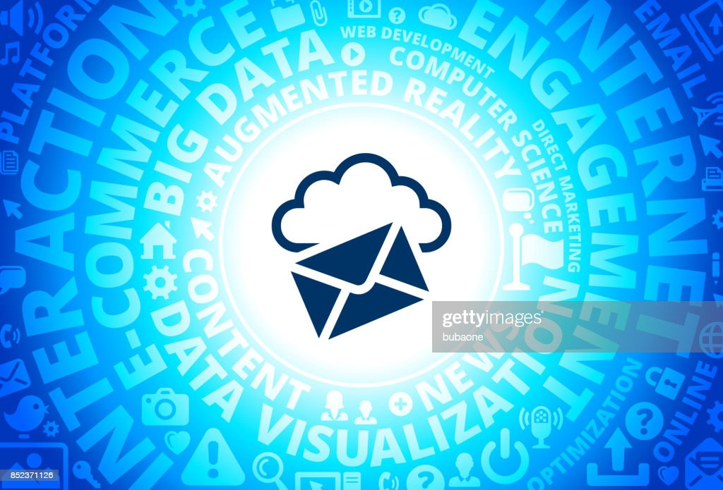 Letter Cloud Computing Icon On Internet Modern Technology Words
