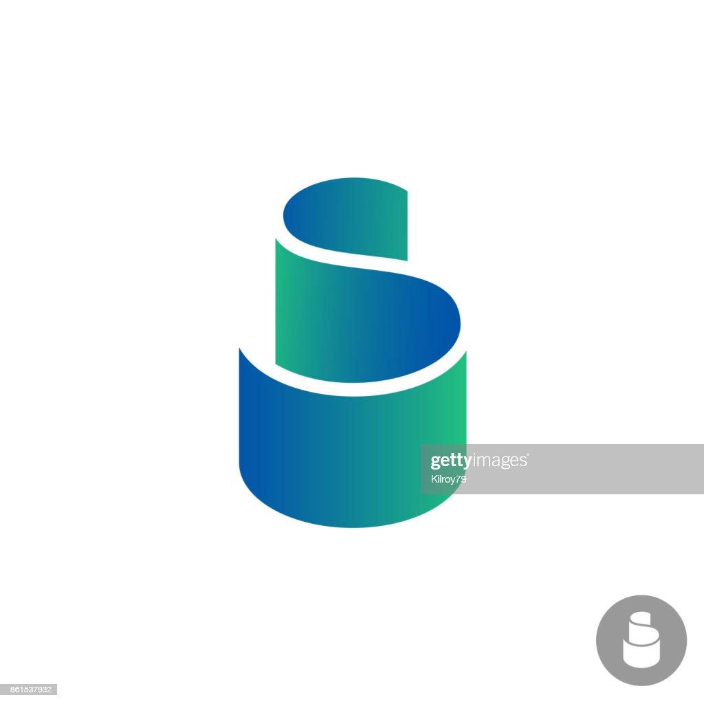S letter color ribbon symbol