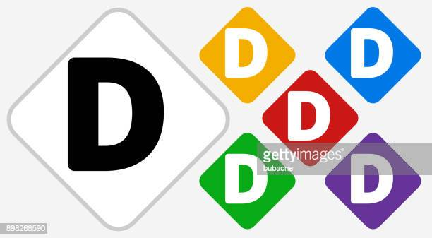 letter d color diamond vector icon - letter d stock illustrations, clip art, cartoons, & icons