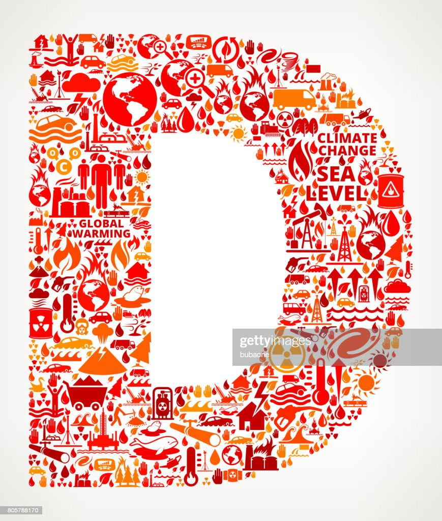 Letter D Global Warming Climate Change Vector Graphic Vector Art ...