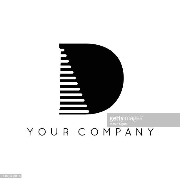 letter d vector line sign design. - letter d stock illustrations, clip art, cartoons, & icons
