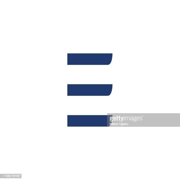 stockillustraties, clipart, cartoons en iconen met letter e logo pictogram ontwerpsjabloon. - group e