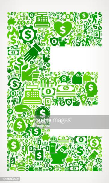 letter e money and finance green vector icon background - flipping a coin stock illustrations, clip art, cartoons, & icons