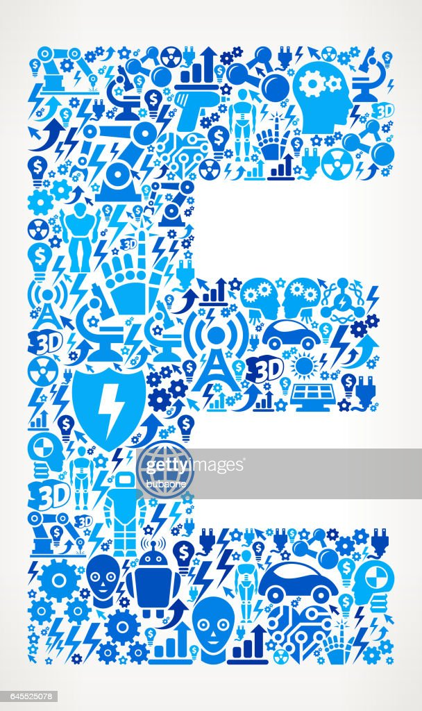 Letter E Robots And Robotics Automation Pattern Vector Art Getty