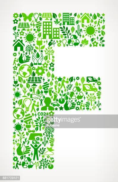 ilustraciones, imágenes clip art, dibujos animados e iconos de stock de letra f conservación del medio ambiente y la naturaleza patrón de iconos de la interfaz - 2015