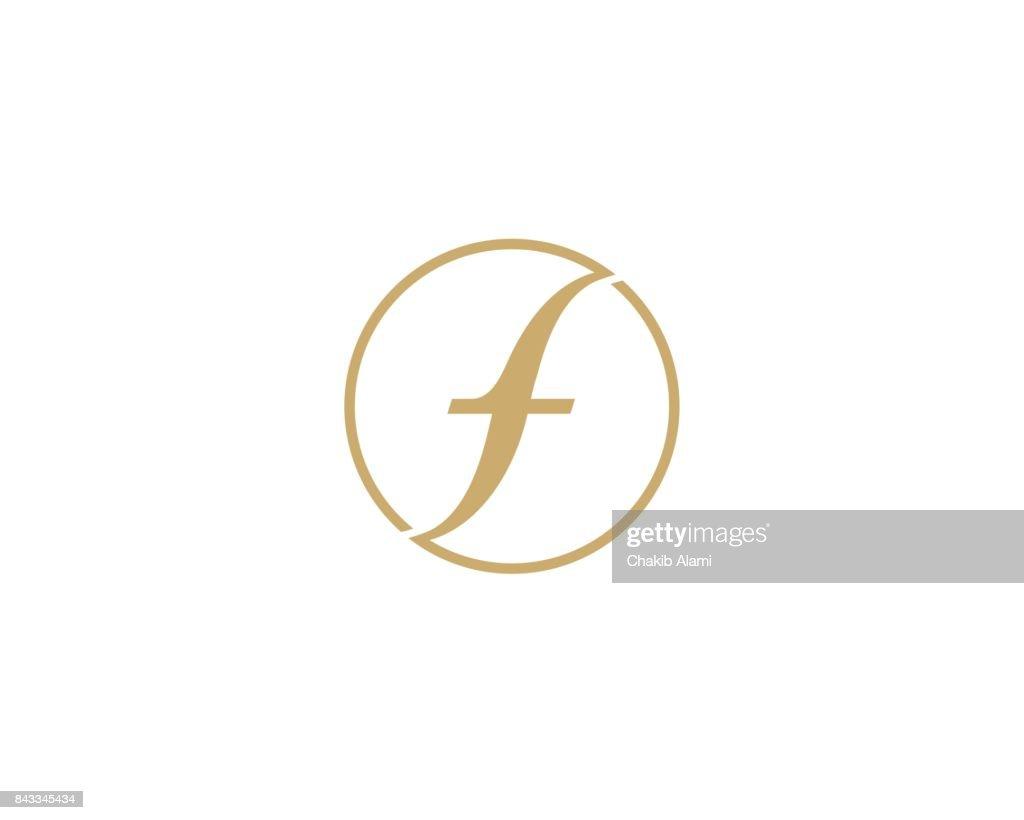 Letter F symbol icon design template elements.