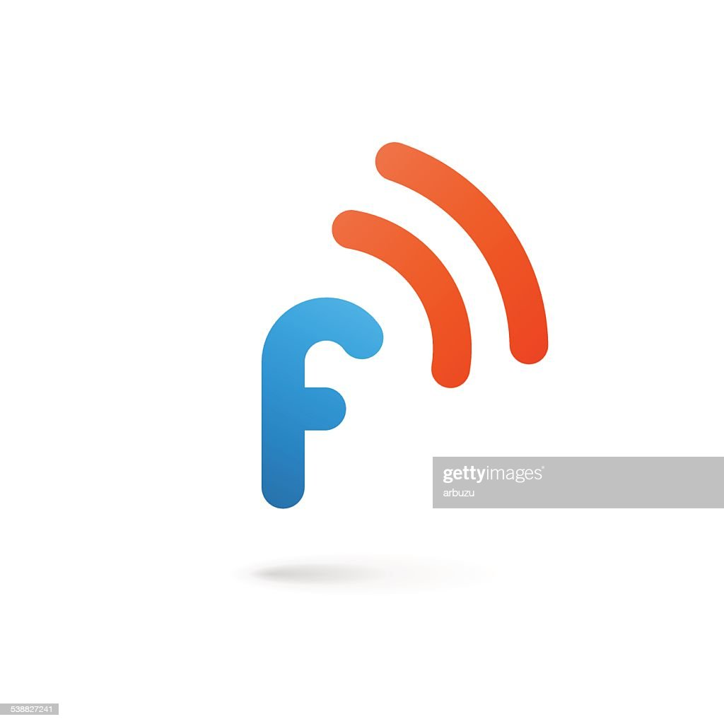 Letter F with wireless icon