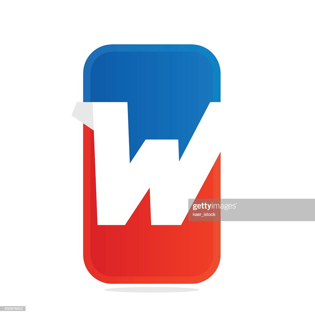 W Letter For Fitness Sport Team Or Gym Vector Art Getty Images
