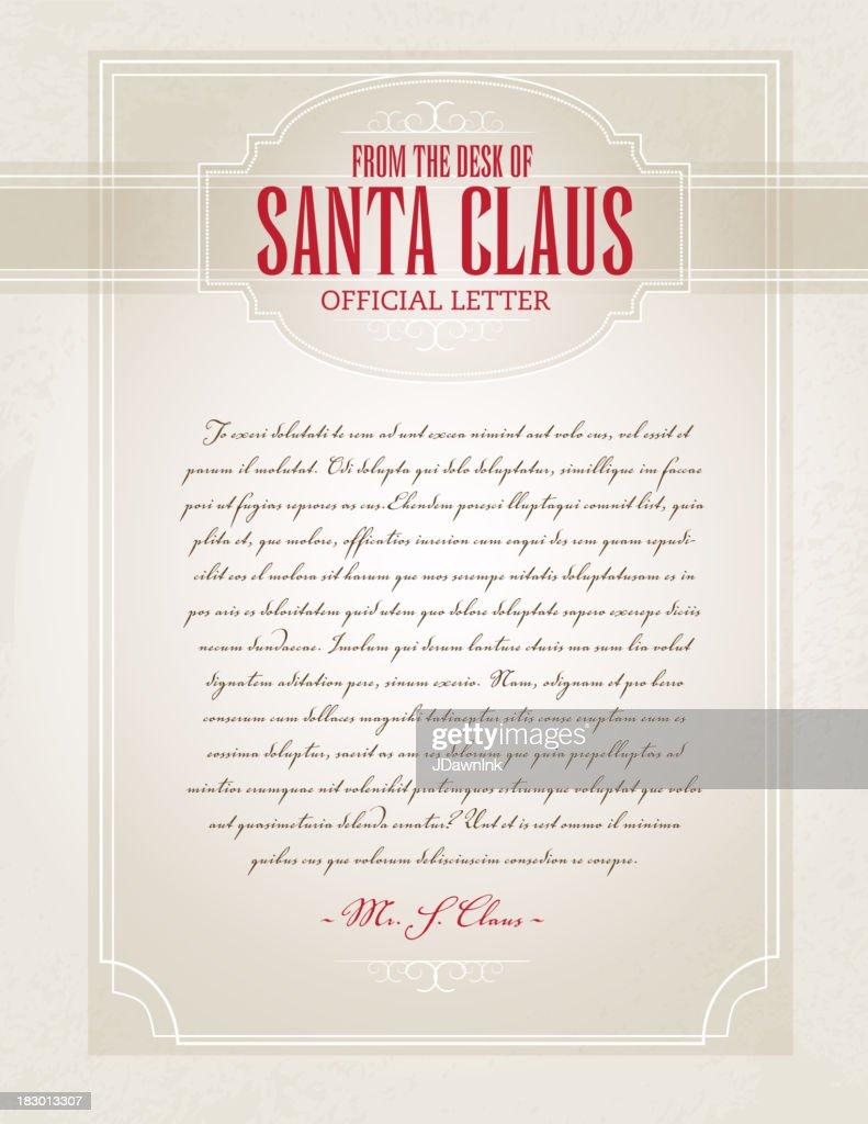 Letter from Santa template design