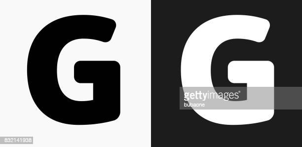 Desenhos animados e ilustraes de stock de letra g getty images letter g icon on black and white vector backgrounds reheart Choice Image