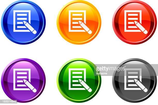 ilustrações, clipart, desenhos animados e ícones de letra hóspede reservar arte vetorizada isenta de royalties da web botão set - petição