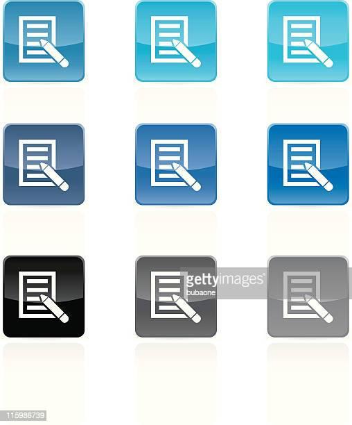 ilustrações, clipart, desenhos animados e ícones de letra hóspede reservar ícone de web vector cor botões 9 - petição