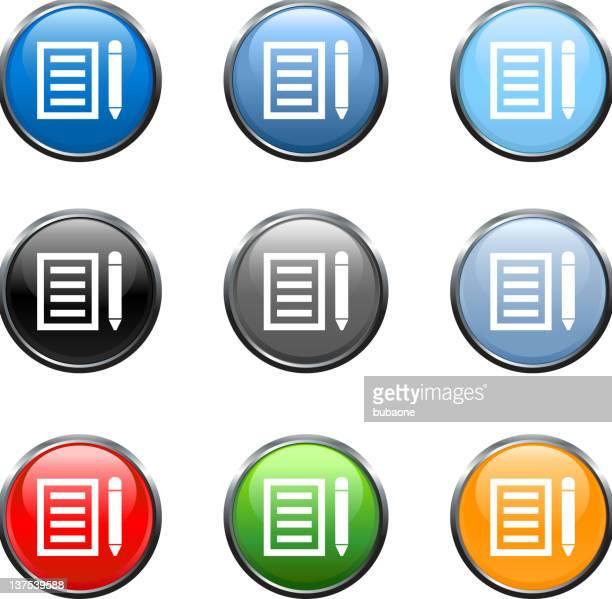 letter guest book web Vector Icon button  9 color