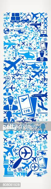 Letter I Aviation and Air Planes Vector Graphic