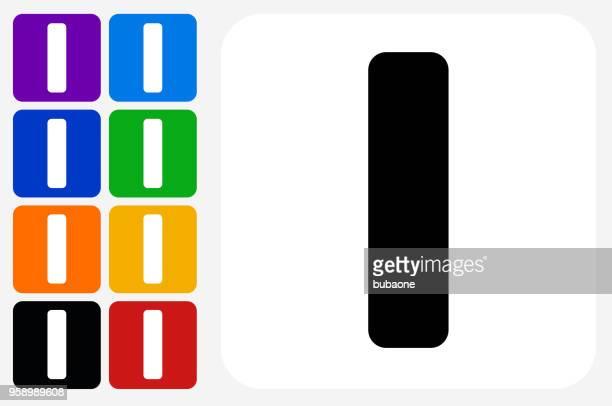 letter i icon square button set - letter i stock illustrations