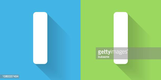 letter i icon with long shadow - letter i stock illustrations
