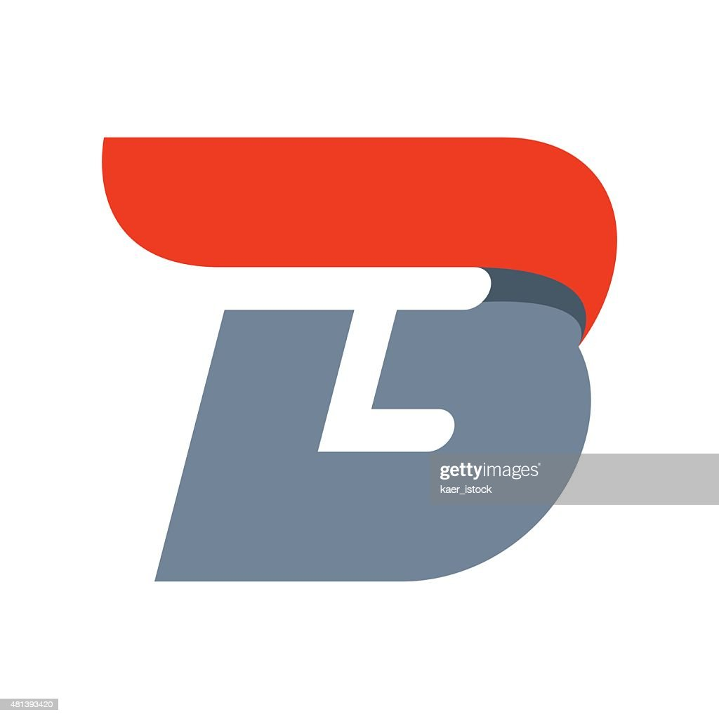 B letter icon design template