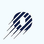 O letter icon design template.