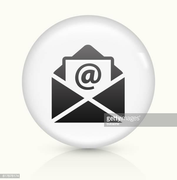 レターのアイコンホワイト丸いベクトルボタン