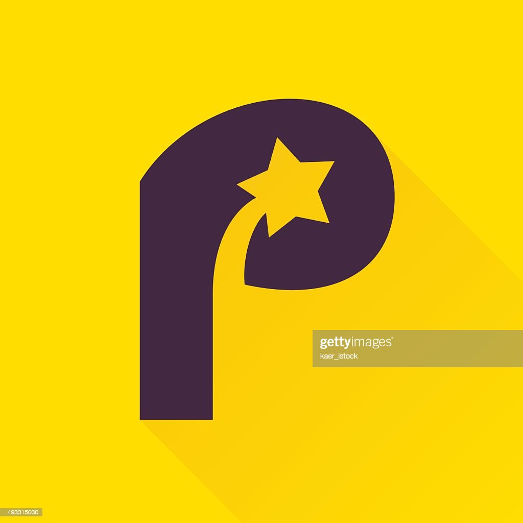 P letter icon with star.