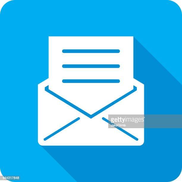 封筒アイコン シルエットの文字 - 発送書類入れ点のイラスト素材/クリップアート素材/マンガ素材/アイコン素材