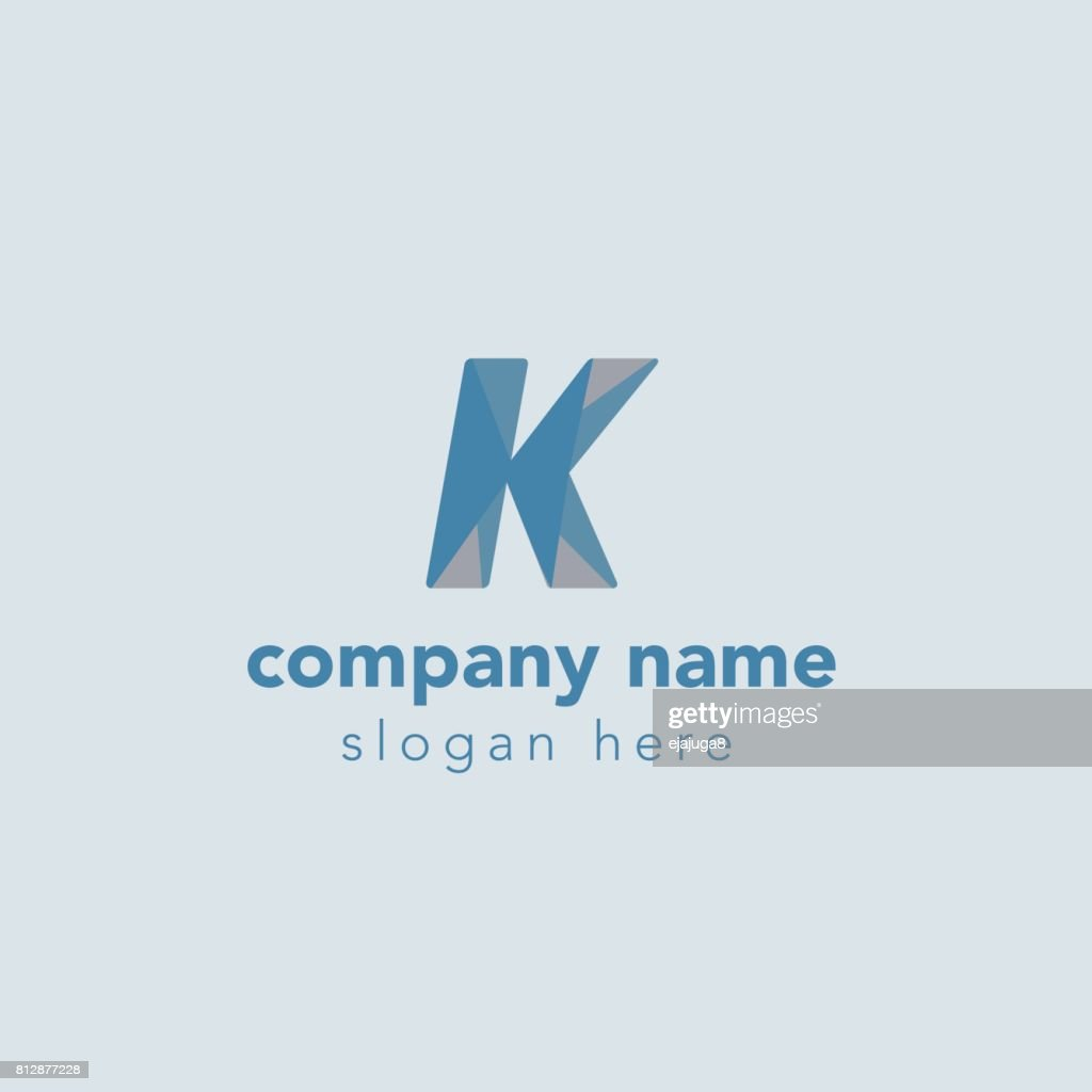 Letter K Element Symbol Design Template Vector Art Getty Images