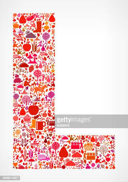 letter l on autumn royalty free vector art pattern