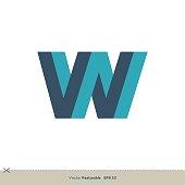 W Letter Logo Template Illustration Design. Vector EPS 10.